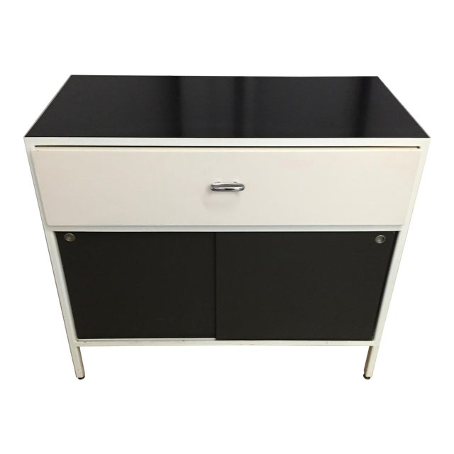 Authentic George Nelson for Herman Miller Steelframe Nightstand or Side Table For Sale