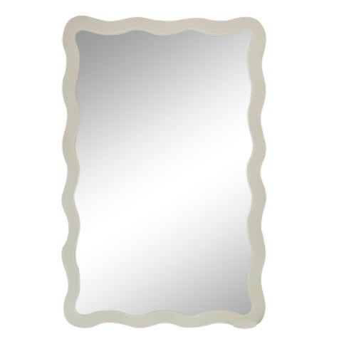 2020s Featured in The 2020 San Francisco Decorator Showcase — Dina Bandman Custom Designed Scalloped Mirror For Sale - Image 5 of 5
