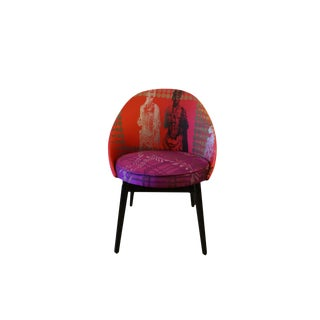 1960s Vintage JoAnn Berman Red Pop Art Chair For Sale
