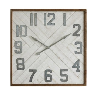 Square Mid Century Style Wall Clock For Sale