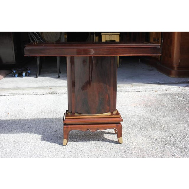Jules Leleu French Art Deco Palisander Console Tables - A Pair - Image 3 of 10