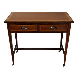 Antique James Phillips & Sons 2 Drawer Walnut Console Table For Sale