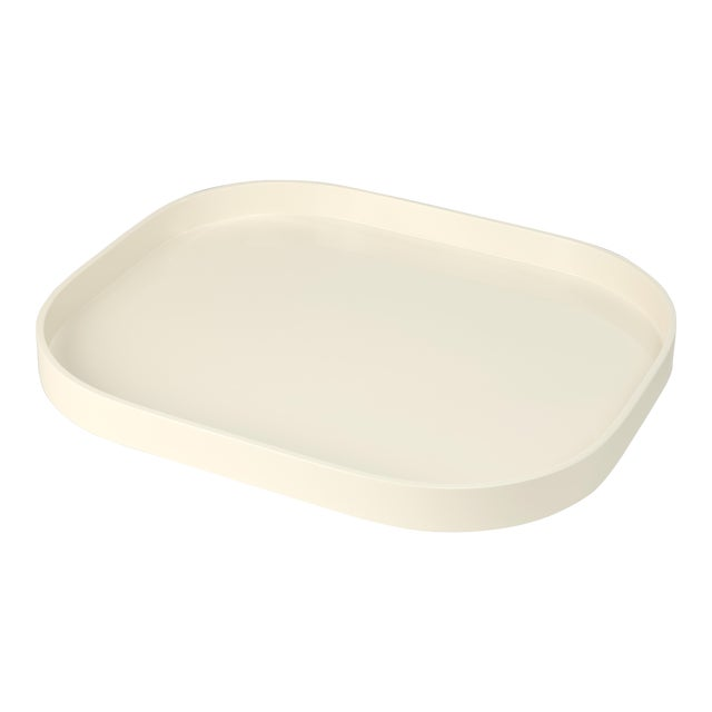 Miles Redd Collection Large Stacking Tray in Ivory For Sale