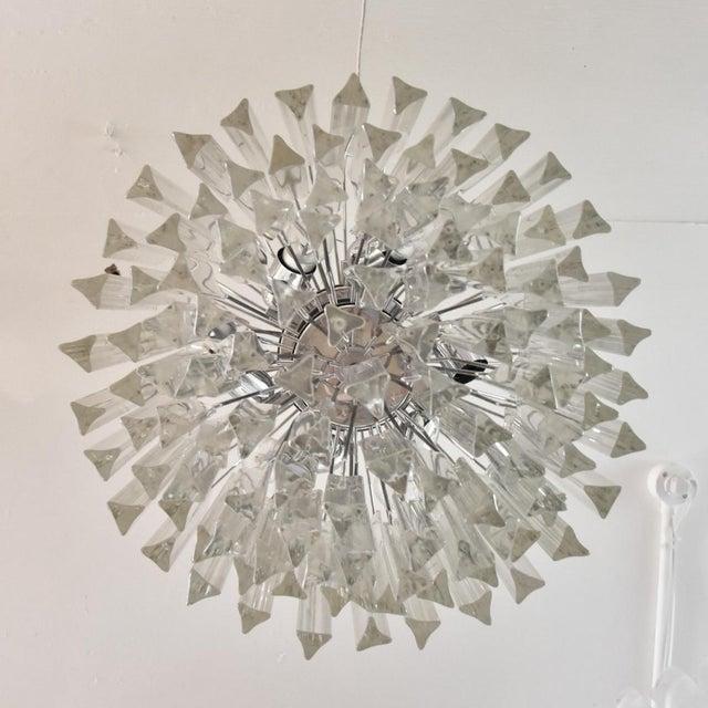 Venini Venini Triedri Chandelier - A Pair For Sale - Image 4 of 5