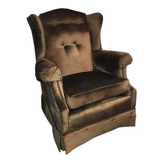 Chesterfield Velvet Wing Chair