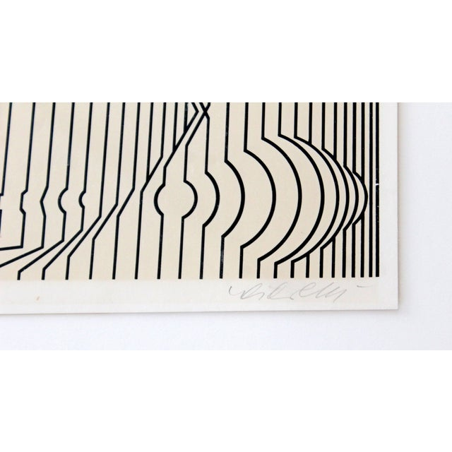 Mid-Century Modern Framed Pop Art Print Signed Numbered by Vasarely 460/650 For Sale In Detroit - Image 6 of 7