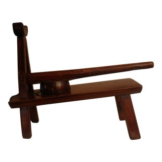 Antique Asian Handcrafted Wooden Press For Sale