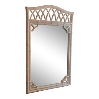 Vintage Regency Chippendale Faux Bamboo Wall Mirror For Sale