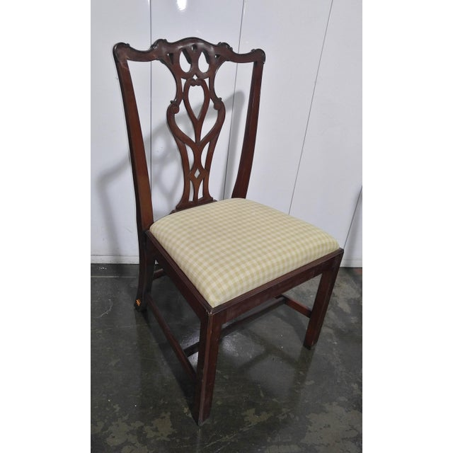 """1990s 1990s English Chippendale Dining Chairs by """"Restall, Brown & Clennell Ltd"""" - Set of 12 For Sale - Image 5 of 13"""