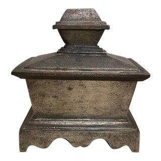 Grand Tour Steel Sarcophagus Form Box For Sale