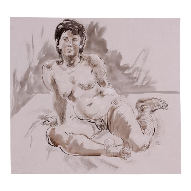 Seated Figure Study by Lois Davis - Image 1 of 4