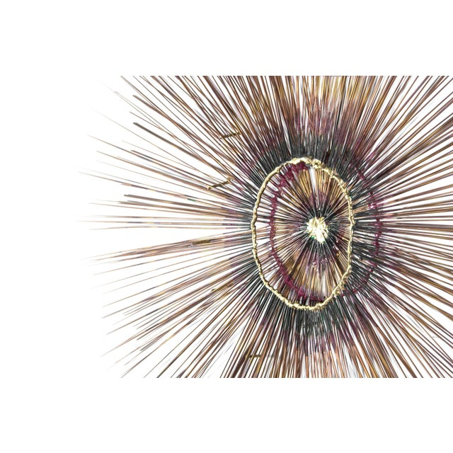 Mid 20th Century 1950s Copper Sunburst Wall Sculpture For Sale - Image 5 of 9