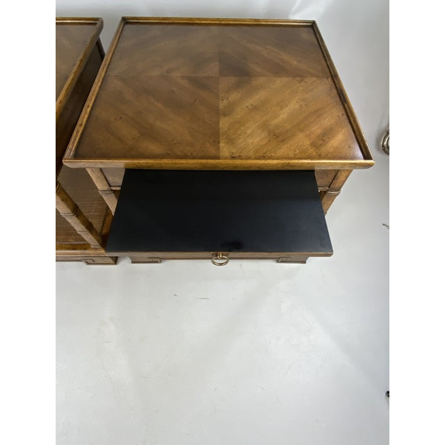 1960s Drexel Heritage Asian Style Side Tables - a Pair For Sale In New York - Image 6 of 13