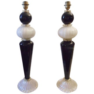 Venetian Table Lamps - a Pair For Sale