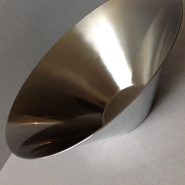 Gabis Sweden Stainless Steel Bowl by Nils Nisbel For Sale In Chicago - Image 6 of 9