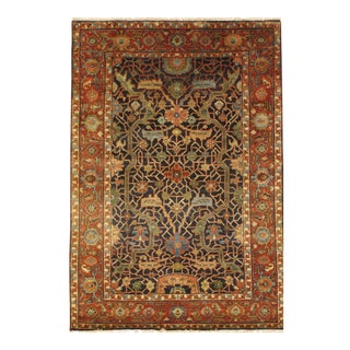 Pasargad N Y Fine Genuine Serapi Design Hand-Knotted Rug - 4' X 5'10""