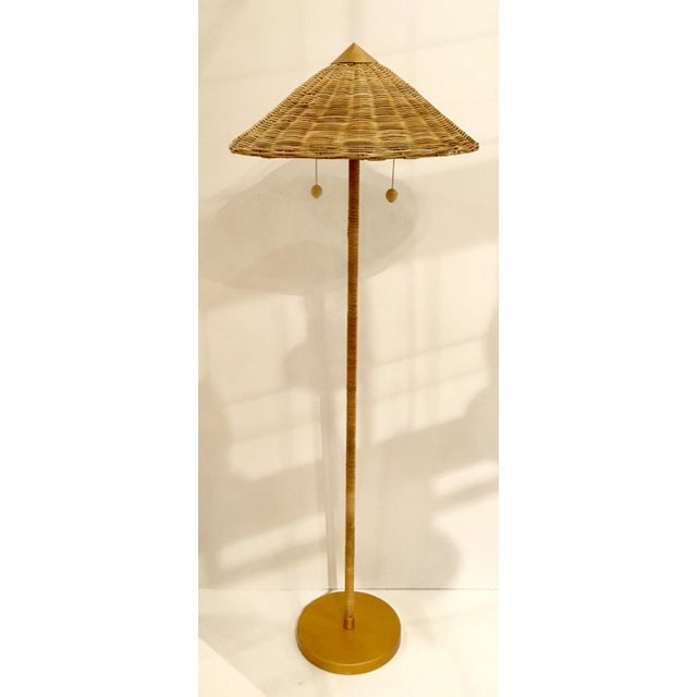 Celerie Kemble for Arteriors Boho Chic Terrace Rattan and Wicker Floor Lamp For Sale In Atlanta - Image 6 of 6