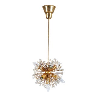 Gilded Sputnik Chandelier, 1972 For Sale