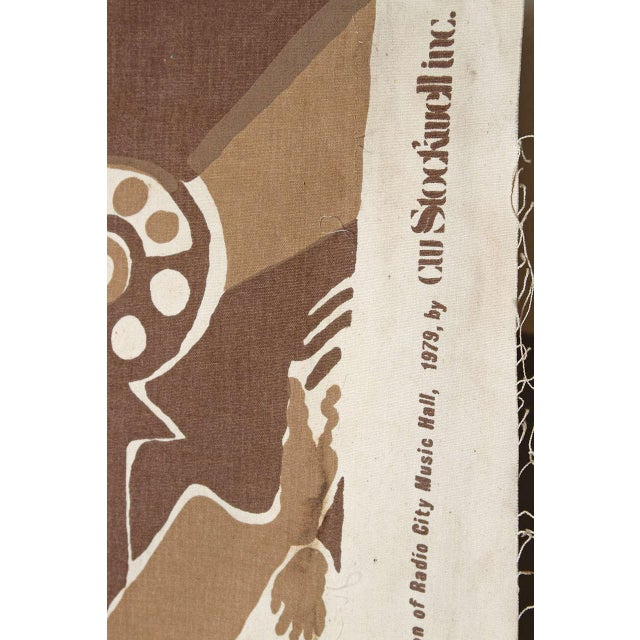 Art Deco Radio City Music Hall Ruth Reeves Jazz Age Fabric Remnant For Sale - Image 3 of 9
