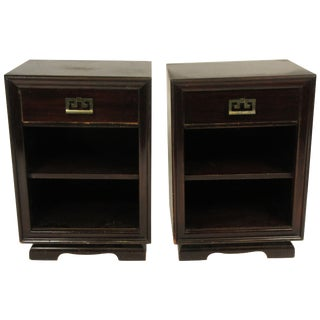 Pair of James Mont Style 1950s Nightstands For Sale