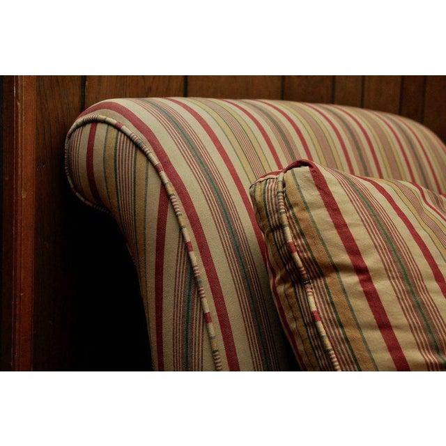 Lillian August Striped Slipper Chair Chairish