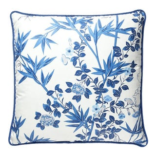 Jardin De Chine Pillow in Blue For Sale