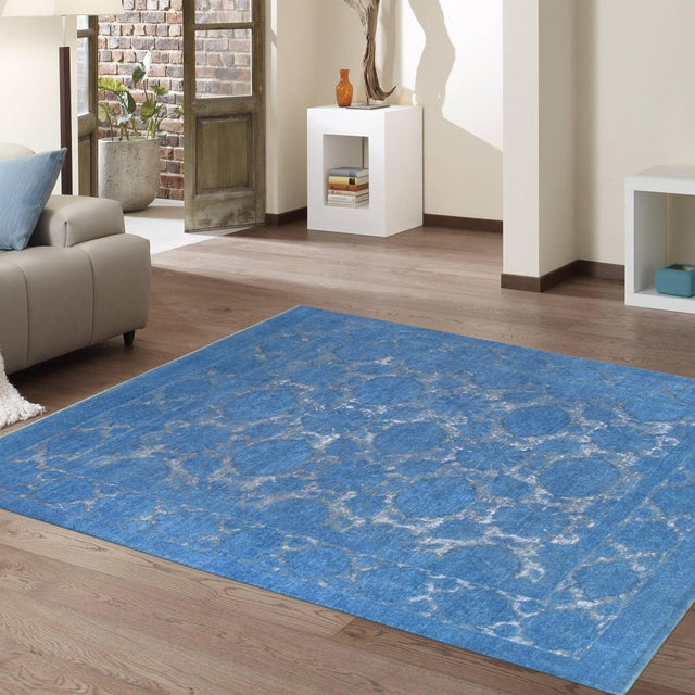"""Contemporary Pasargad Overdye Wool Area Rug - 7'8"""" X 9'8"""" For Sale - Image 3 of 3"""