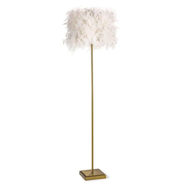 Jasmine Floor Lamp in White For Sale In Detroit - Image 6 of 6