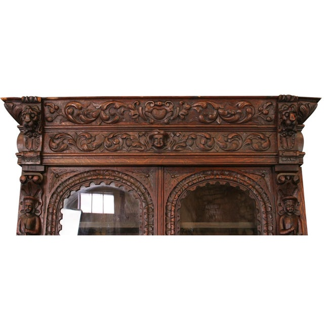 Antique French Buffet Hunting Style Cabinet - Image 4 of 8