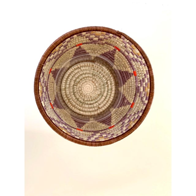 Tribal Style Handwoven Planter/Basket For Sale - Image 4 of 10