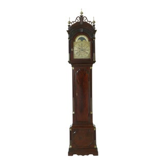 Samuel Whitchurch 18th C. English Mahogany Grandfather Clock For Sale