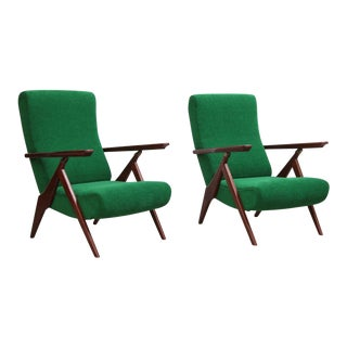 Rare Pair of Antonio Gorgone Reclining Lounge Chairs For Sale