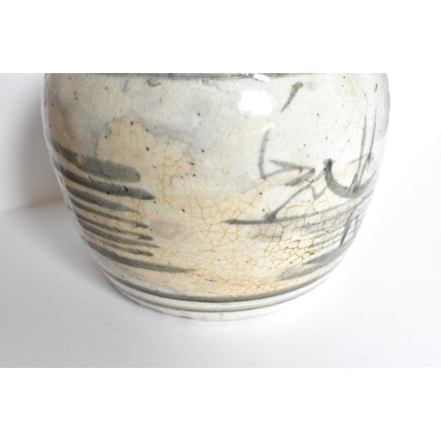 Antique C. 1840 Chinese Canton Blue & White Ginger Jar For Sale In San Francisco - Image 6 of 13