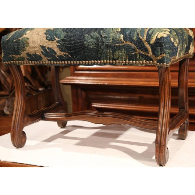 Late 19th Century French Louis XIII Carved Walnut Stool With Aubusson Tapestry - Image 3 of 9
