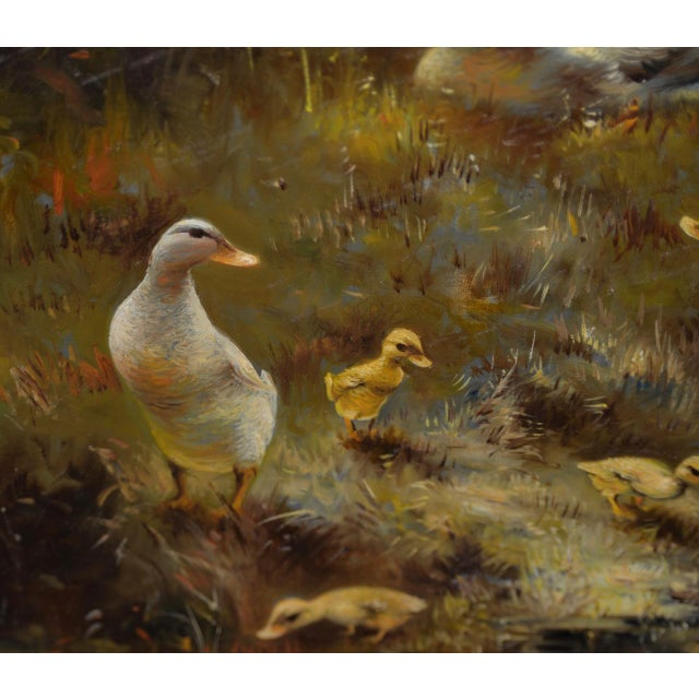 Hendrik Breedveld (Netherlands, B.1918) a Brood of Ducks at Waters Edge C.1950s For Sale - Image 4 of 11