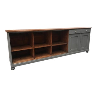 French Antique Store Counter Kitchen Island Buffet Bar