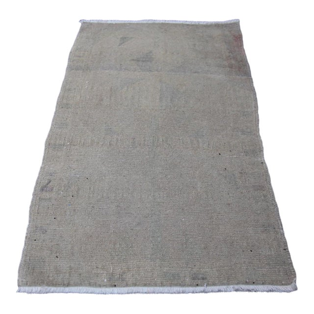 """Wonderful Muted Color Rug - 1'10"""" x 3'5"""" For Sale"""