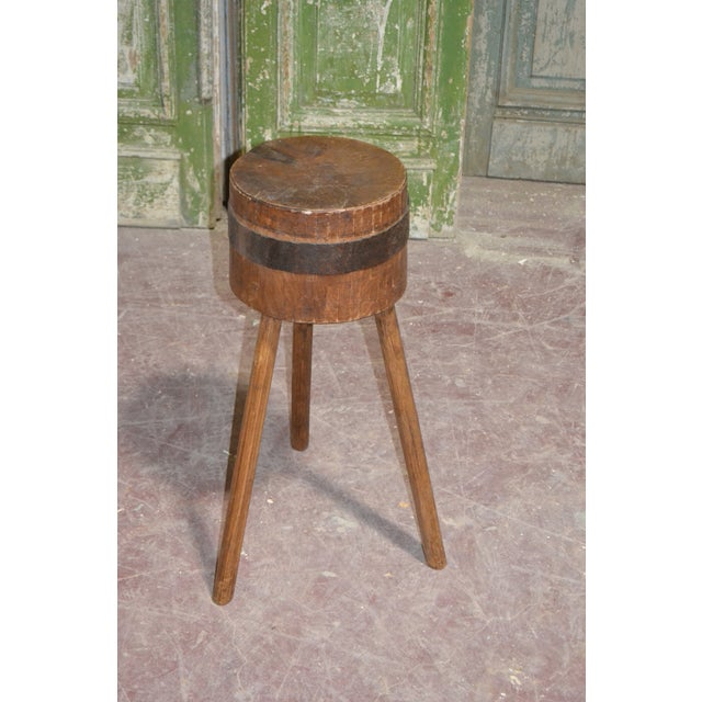 1900 - 1909 1900's French Butcher Block For Sale - Image 5 of 6