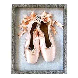 Framed Vintage French Ballet Slippers For Sale