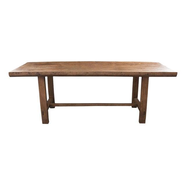 French 19th Century Oak Farmhouse Trestle Table For Sale