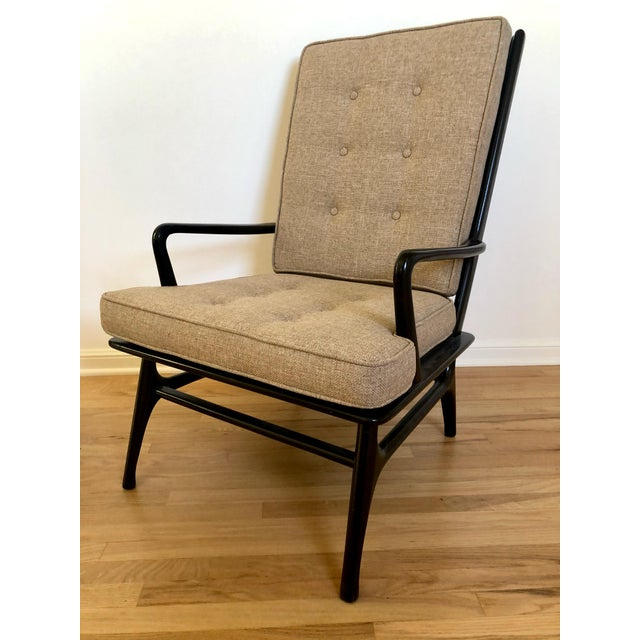 1960s Mid Century Ebonized Chairs - a Pair For Sale - Image 5 of 8