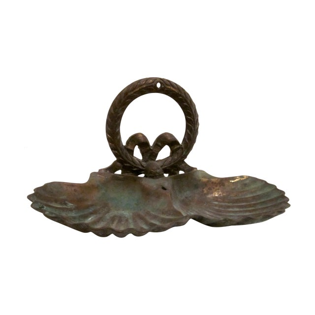 Brass Clam Shell Double Style Dish - Image 1 of 3