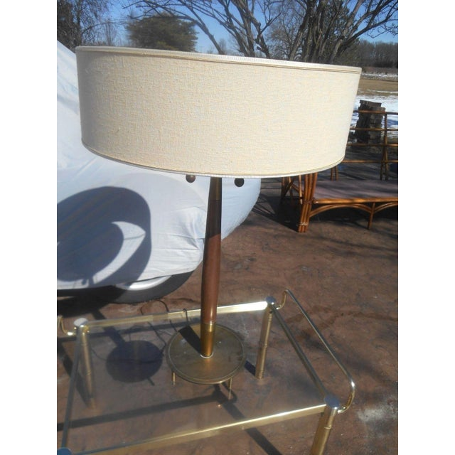 Mid-Century Modern Rare 1950's Gerald Thurston For Stiffel Mid-Century Modern Atomic Age Table Lamp For Sale - Image 3 of 10