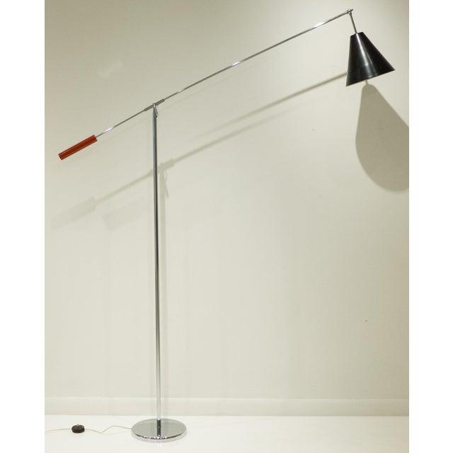 Tall Single Arm Floor Lamp by Robert Sonneman - Image 2 of 7