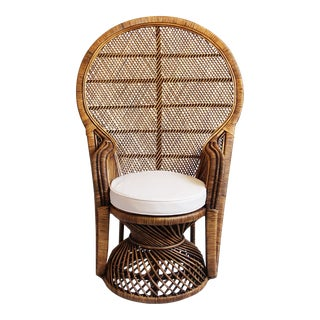 Plantation Peacock Chair For Sale