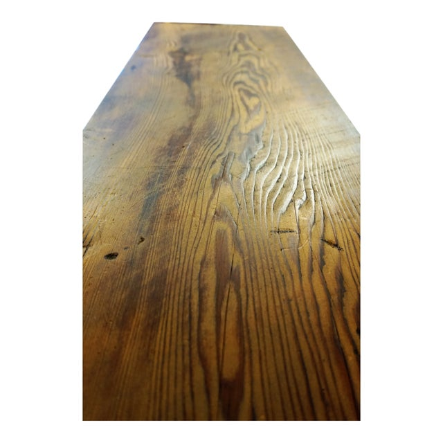 Modern Handmade Redwood Russian River Bench For Sale - Image 4 of 6