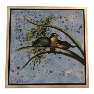 """""""Songbird"""" Framed Oil on Canvas Painting For Sale"""