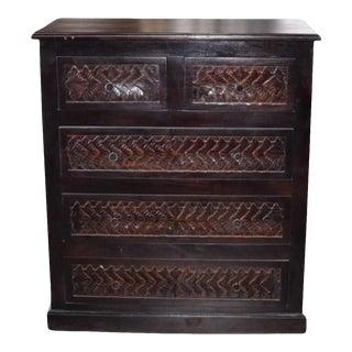 Indian Carved Wooden Dresser For Sale