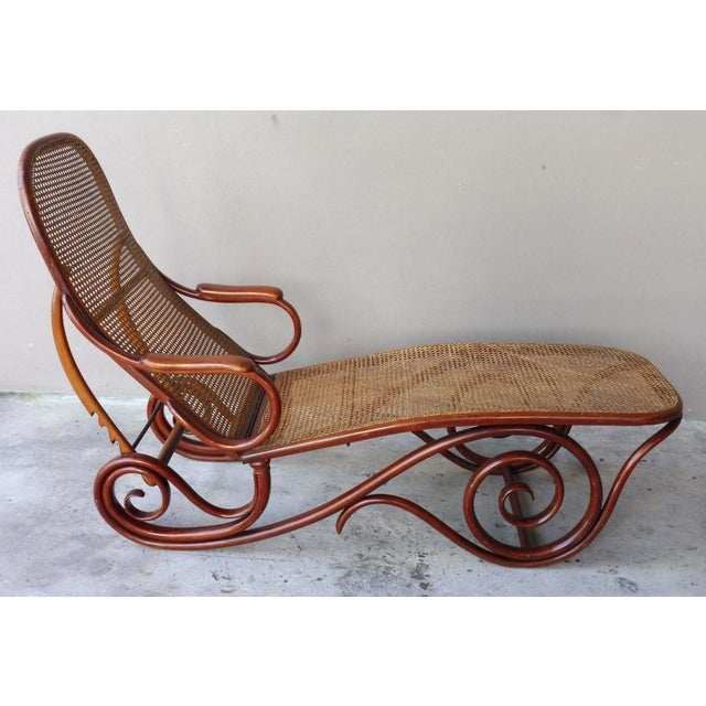 Stunning early 20th century Thonet Chaise lounge chair unmarked but well documented as a Thonet design sold as found...