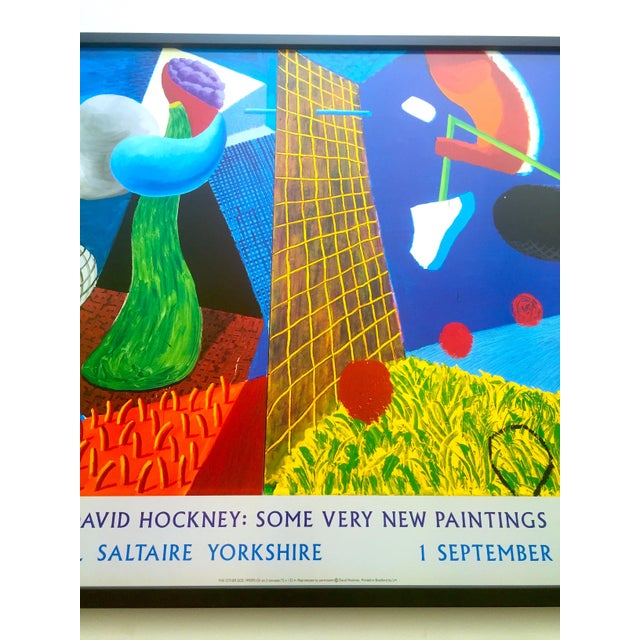 """Wood David Hockney Rare Vintage 1993 """" the Other Side """" Lithograph Print Framed Collector's Pop Art Exhibition Poster For Sale - Image 7 of 13"""